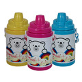 Double walls PP plastic water bottle with strap easy to take