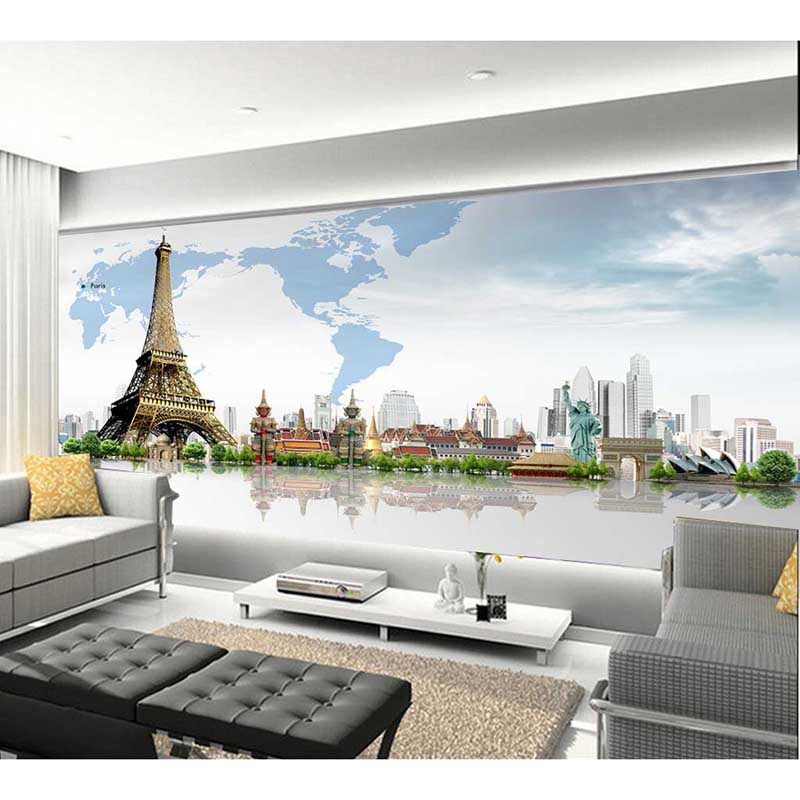 Cheap retro bedroom living room european-style wallpaper warm mural wallcovering