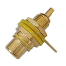 gold plating RCA Female Bulkhead Jack connector