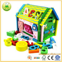 China Wholesale Educational Assembling Wooden Doll House