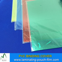 Colourful High Quality A4 A3 100mic 125mic 140mic PVC Binding Cover Factory Price Clear Plastic Book Covers
