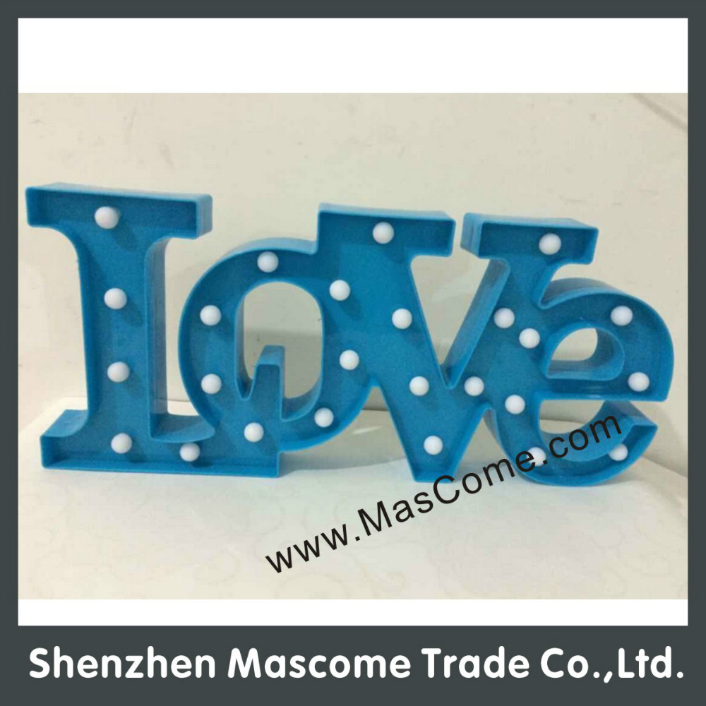 3V low voltage plastic three-dimensional letters