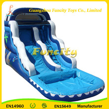 Outdoor Giant Inflatable Slippery Water Slide , Water Equipment for Partys