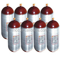 70L CNG type 2 composite cylinders with steel liner for vehicle