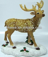 customized resin christmas moose bobble head