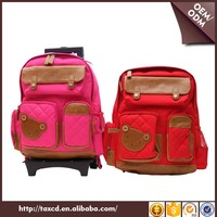 China Manufacturer Korean Design Student Trolly School Backpack Wheel Bag