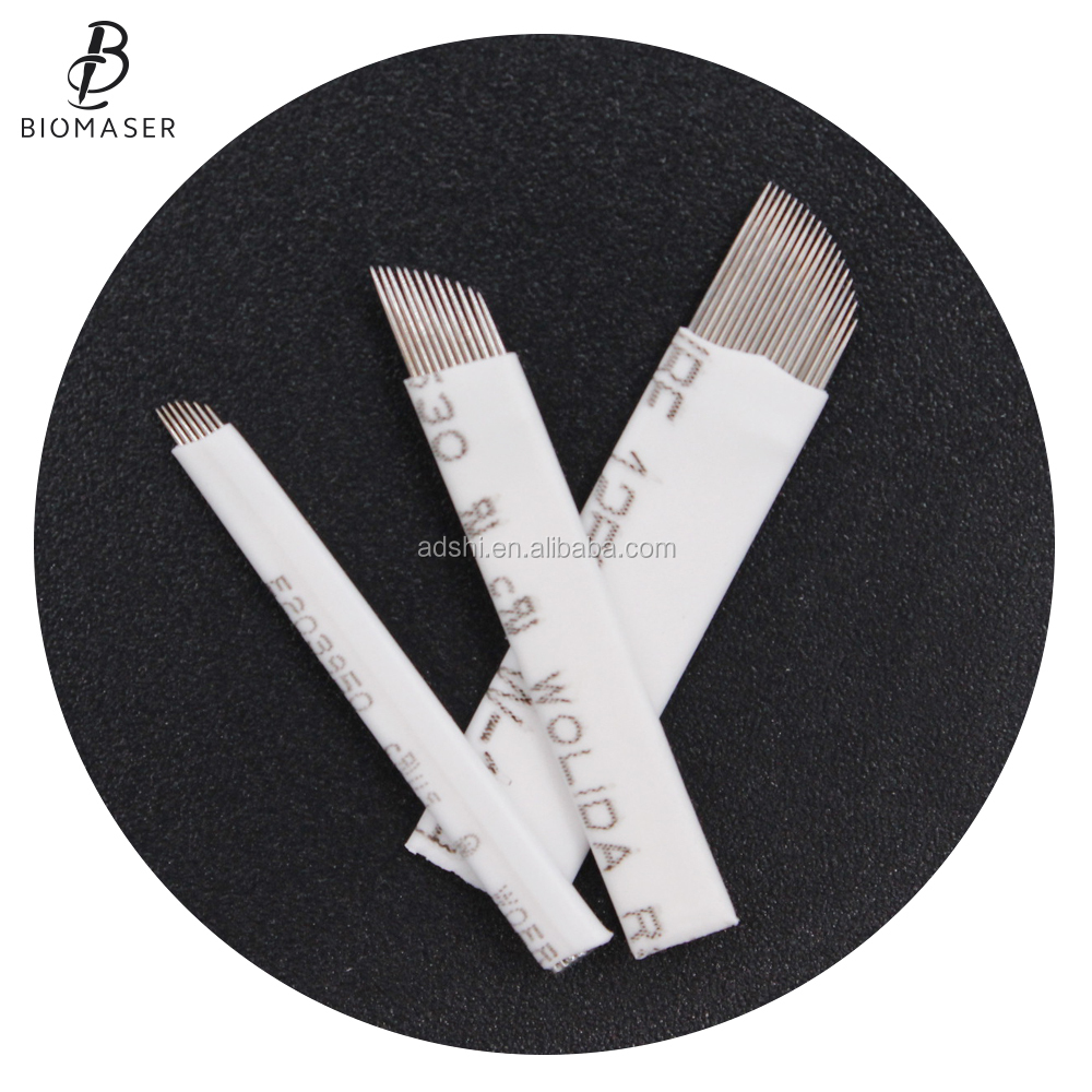 Disposable Permanent Makeup Eyebrow Tattoo Blades Microblading Needles