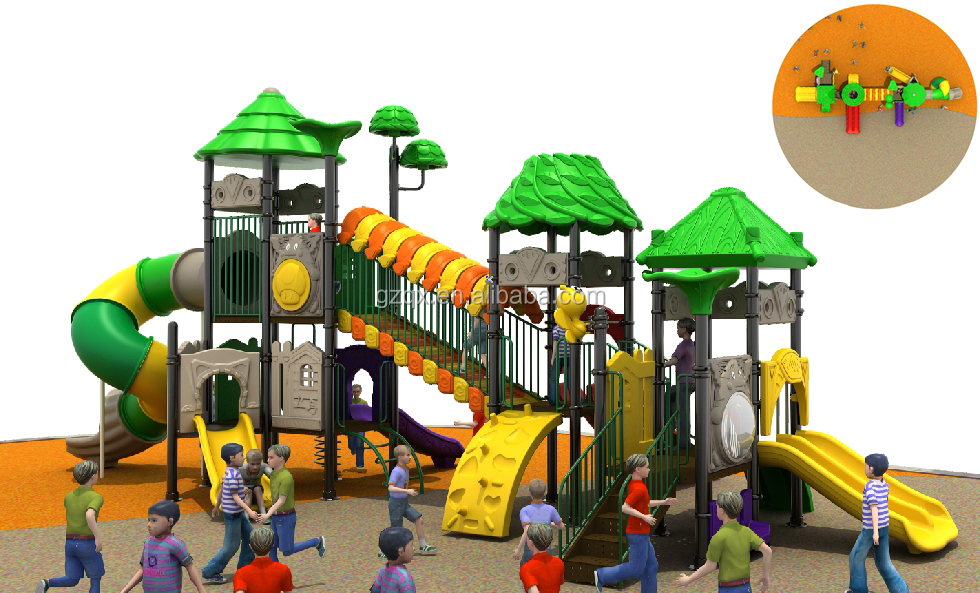 Kindergarten outdoor play large slide large outdoor toys QX-18018A