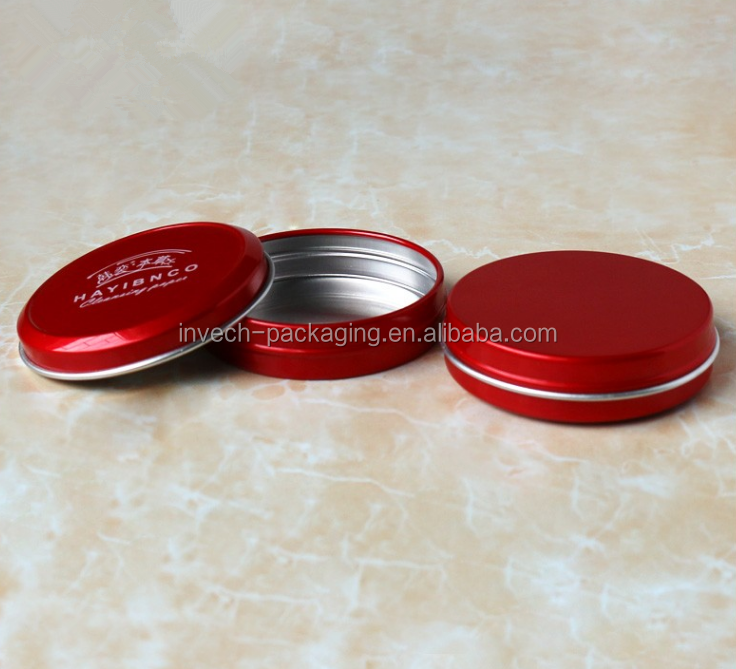 red 1oz aluminum tin container. customized aluminum can for tattoo aftercare cream