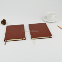 A5 recycled custom design leather cover note book