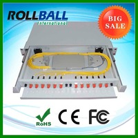 "19"" rack mount adaper pigtail splice tray and splice protector included corning fiber optic patch panel"