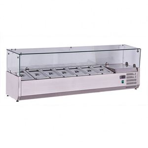Hot sell stainless steel counter top refrigerator/pizza/salad display with GN pan