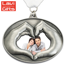 Factory Price Wholesale Custom Heart-Shaped Metal Medal