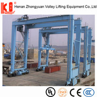 China Low Price Rubber Tyre Gantry Crane Double Girder RTG Crane For Sale