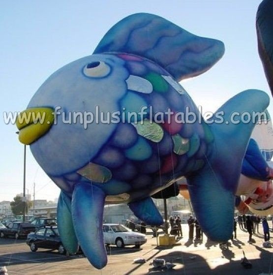 Good and cheap 4.5m long inflatable fish shape helium balloon P3021