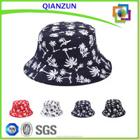 Custom Coconut Print Pattern Bucket Hat