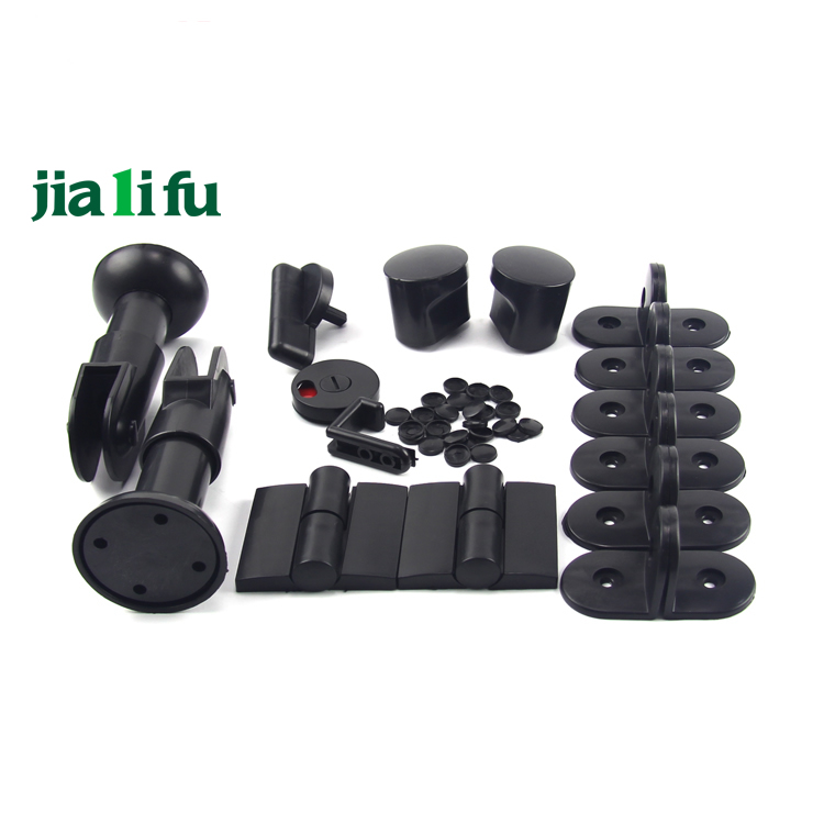 Black nylon toilet cubicle hardware lock fittings