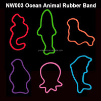 2016 Fashion DIY fun animal shaped hair rubber band with safe material