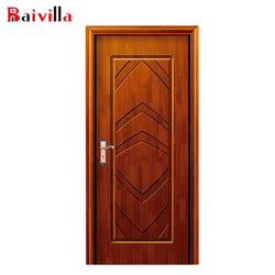 Single wooden door design 100% solid oak indoor security door