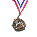 Custom Hockey Medal with Striped Ribbon