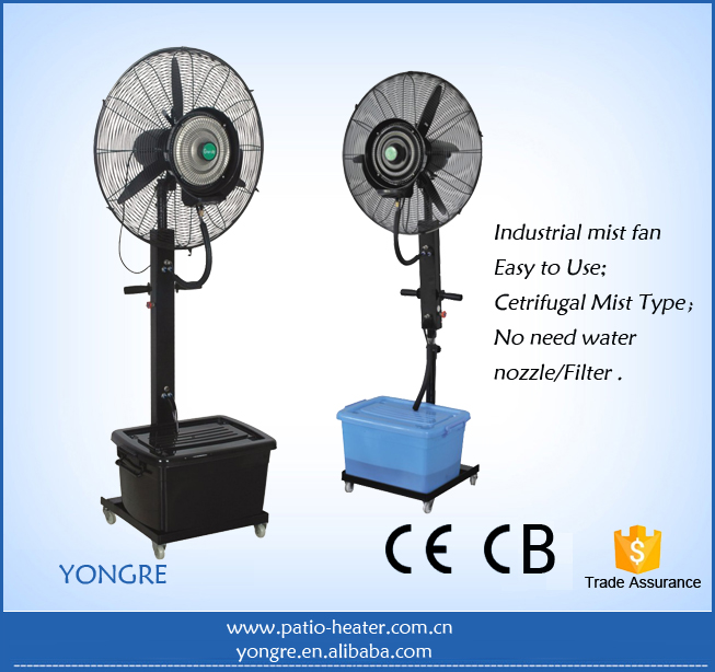 "Hot Sell indoor / outdoor mist fan industrial water mist fan 26"" 30"" , centrifugal fan"