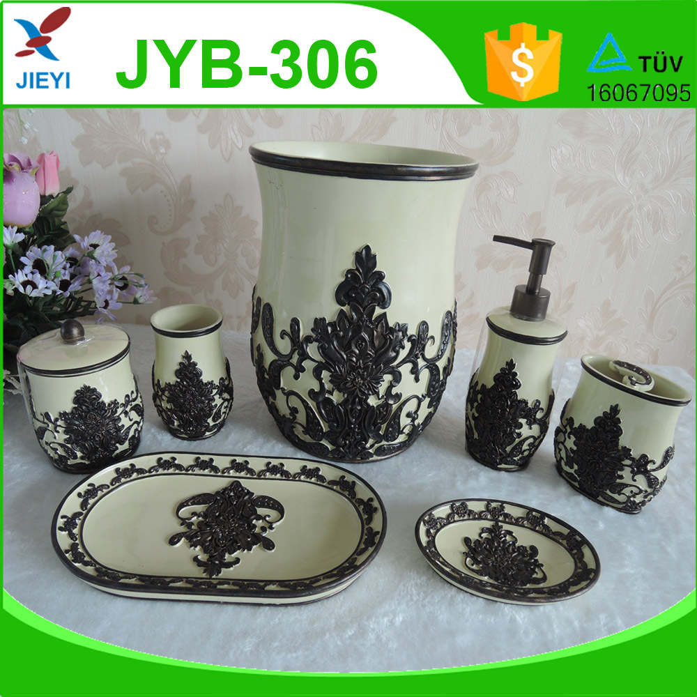 2016 7pcs ivory white ceramic bathroom set classical bathroom accessories in dubai buy - Bathroom accessories dubai ...