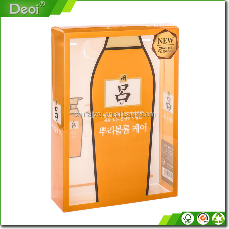 Customized PVC clear plastic packaging box