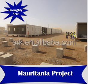 Ark Top Quality Good Price 3 Story Long Lifespan Prefabricated Steel Oil Field Container hotel