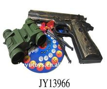 police toy set gun and telescope