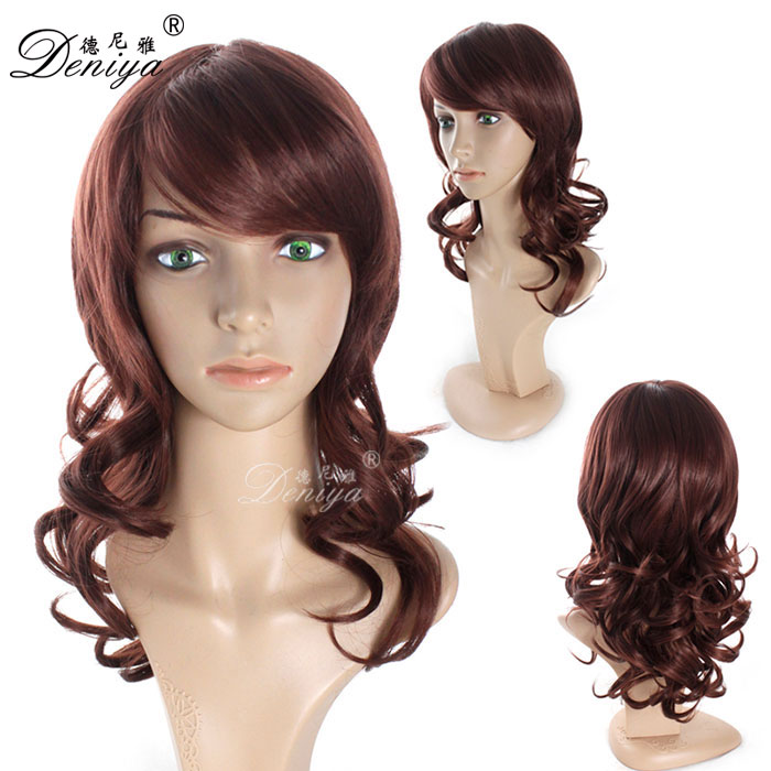 lady's fashion heat resistant synthetic wigs wholesale new popular style female elegant wigs
