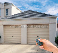 custom size automatic garage door wooden grain panel
