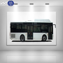 New luxury 10.5m 40 Seats Low Floor CNG City Bus