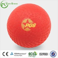 ZHENSHENG Promo Rubber Playground Balls with Custom Logo