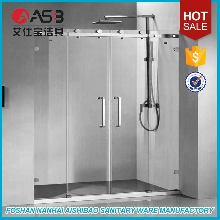 8mm toughened glass retractable single panel shower screens bath