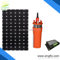 Singflo 6LPM/360LPH solar powered submersible tube well water pump
