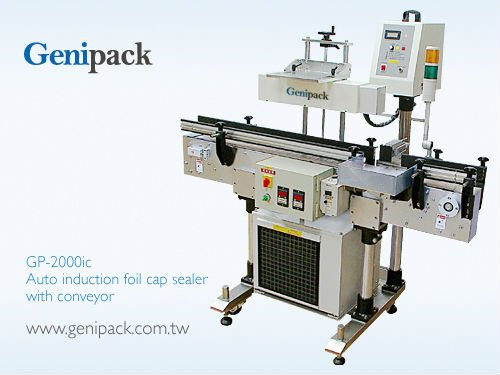 2000W Auto induction foil cap sealer machine with conveyor