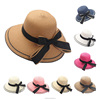 wholesale new product bowknot stripe cheap women straw hat for sale
