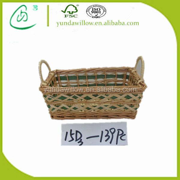Cheap Wholesale Empty Gift Basket Wicker with Handle