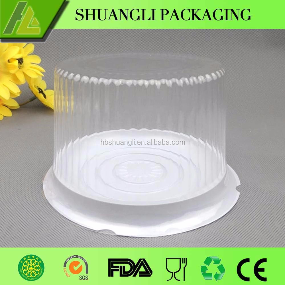 Biodegradable Cheap Plastic Circle Cake Box