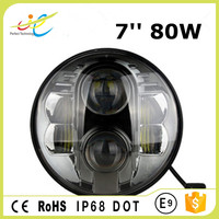 "Hot sale!!! For Jeep Wrangler 7"" led headlight, Round 80w led work light , 7 inch led headlight"