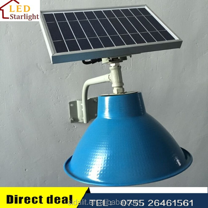 Newly design factory supply 10W panel and 5W LED solar lantern