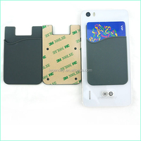 Compatible Brand 3M Sticker Smart Wallet Silicon Cell Phone Case Card Holder
