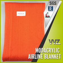 Comfortable 100% modacrylic woven airline blanket passed FAR 25.853