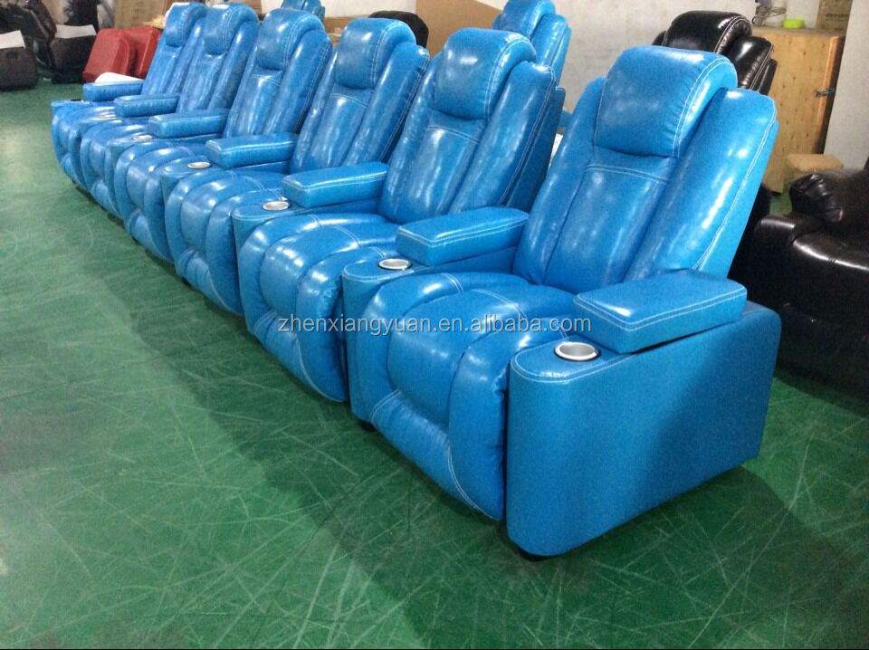 2017 Home furniture Vip Luxury Cinema 6 seater recliner