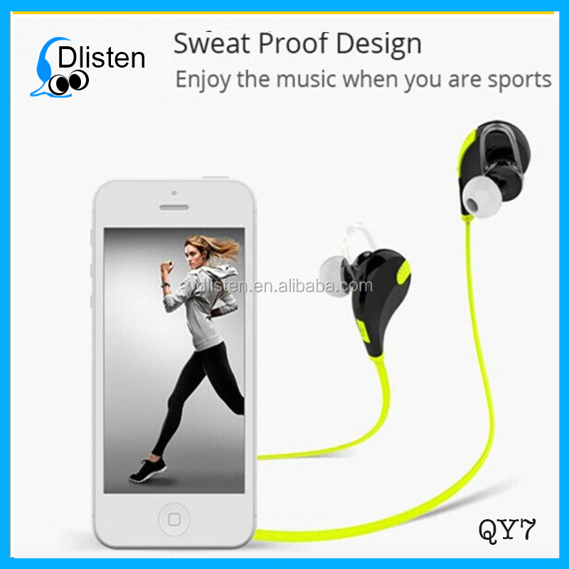 Hot sale sport mini portable smallest bluetooth headset battery, stereo bluetooth headset
