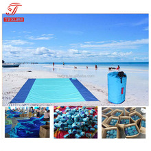 7x7 Feet Large Parasheet Beach Picnic Blanket With Corner Loops