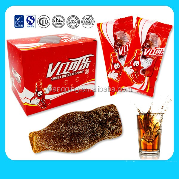 wholesale daily eatting soft yummy cola gummy candy with high quality