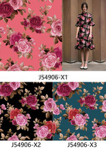 custom embroidery flower printed cotton fabric floral wax printing organza fabrics