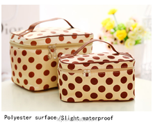 Travel and waterproof makeup cosmetic bag with mirror