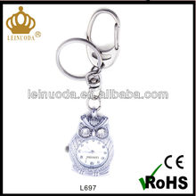 fashion compass carabineer watch with keychain silver carabiner keyring watch